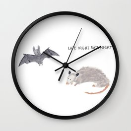 Late Night Date Night Wall Clock