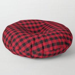 Buffalo Plaid Christmas Pattern Floor Pillow