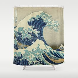 Ukiyo-e, Under the Wave off Kanagawa, Katsushika Hokusai Shower Curtain
