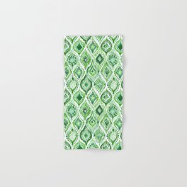 FROM WITHIN Green Moroccan Ogee Hand & Bath Towel