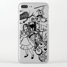 Alice in Wonderland Illustration Clear iPhone Case