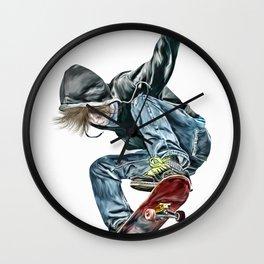 Skateboarder Wall Clock