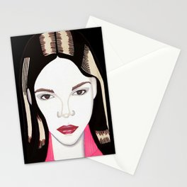 Pretty Girl Stationery Cards