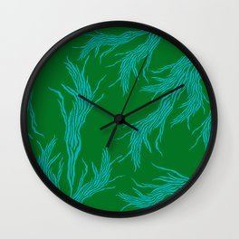 Seventies Feather Wall Clock