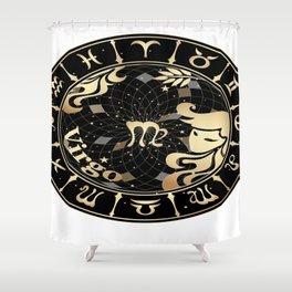 Virgo Horoscope Zodiac Sign Shower Curtain