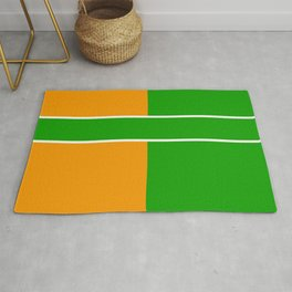 Team Color 6...green,orange Rug