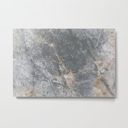 Gray Marble Textured Background Metal Print