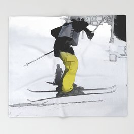 Natural High   - Ski Jump Landing Throw Blanket