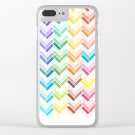 Colourful pattern Clear iPhone Case