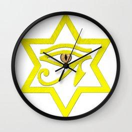 All Seeing MerKaBa Eye Wall Clock