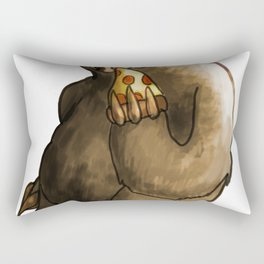 kawaii sloth eating pizza Rectangular Pillow