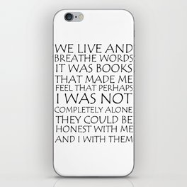We Live And Breathe Words iPhone Skin