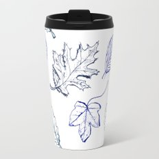 Leaves (navy) Travel Mug