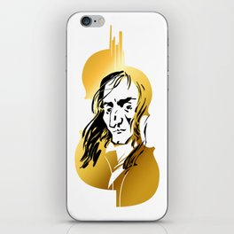 Niccolo Paganini and golden violin iPhone Skin