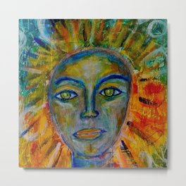 Daughter of the Sun and Moon Metal Print