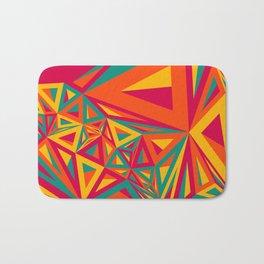 Abstract Triangulated Pattern Bath Mat