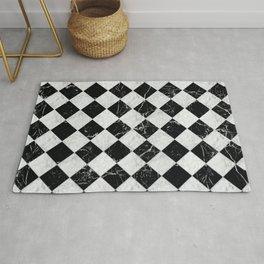 Cubic - Black & White Marble #895 Rug