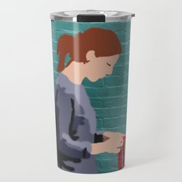 Graffiti girl braiding Travel Mug