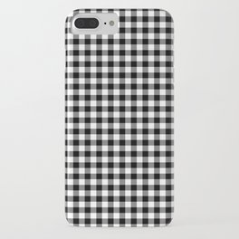 Gingham Black and White Pattern iPhone Case