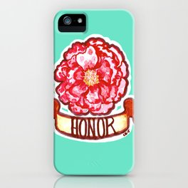 The Honorable Peony iPhone Case