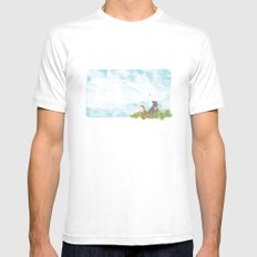 Up above the clouds | Miharu Shirahata SMALL Mens Fitted Tee White