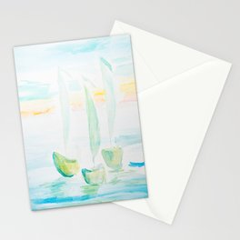 Boats  watecolr Stationery Cards