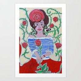 Rosa que linda eres  Art Print