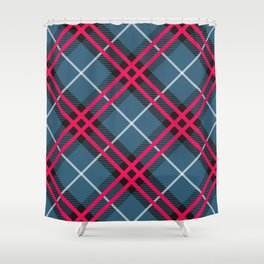 the thin red lines. Shower Curtain