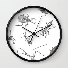 Pond Creatures Wall Clock