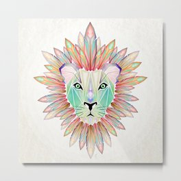 lion colorful Metal Print