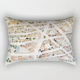 Greenwich Village Map by Harlem Sketches Rectangular Pillow
