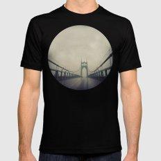 St. Johns Bridge Black LARGE Mens Fitted Tee