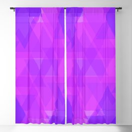 Bright purple and pink triangles in the intersection and overlay. Blackout Curtain
