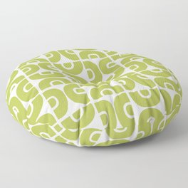 Groovy Mid Century Modern Pattern Chartreuse Floor Pillow