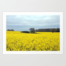landscape in yellow Art Print