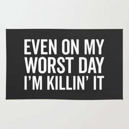 Worst Day Killin' It Gym Quote Rug