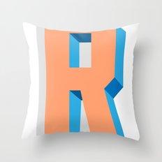 Letter R Throw Pillow