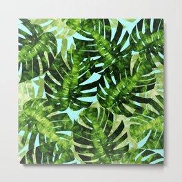 Watercolor tropical leaf XIII Metal Print