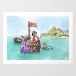 Pirate Ship Treasure Art Print