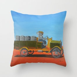 Aussie Beer Truck Throw Pillow