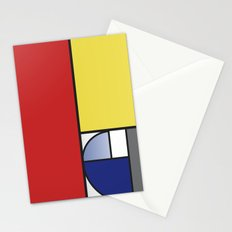 Mondrian vs Fibonacci Stationery Cards