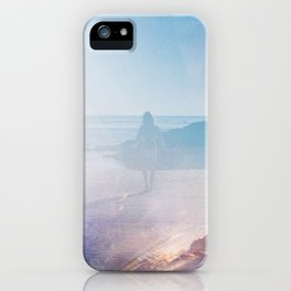Alone on the Oregon Coast - 35mm Double Exposure iPhone Case