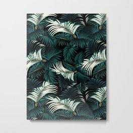TROPICAL JUNGLE - Night Metal Print