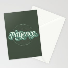"""Patience"" Bible Verse Stationery Cards"