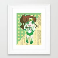 sailor jupiter Framed Art Prints featuring Sailor Jupiter by strawberryquiche