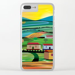 Sunset over Fields Clear iPhone Case