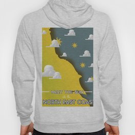 Meet The Sun on the North East Coast Hoody
