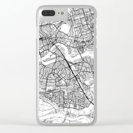 Rotterdam White Map Clear iPhone Case