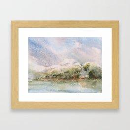 East Channel Lighthouse Framed Art Print