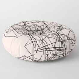 Abstract geometric lines Floor Pillow